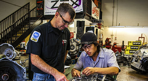 Automotive Technicians in a work shop