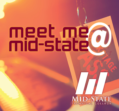 "Backstage pass with the text ""Meet Me @ Mid-State"""