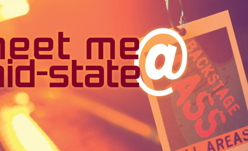 "Backstage pass with the text, ""Meet Me @ Mid-State"""