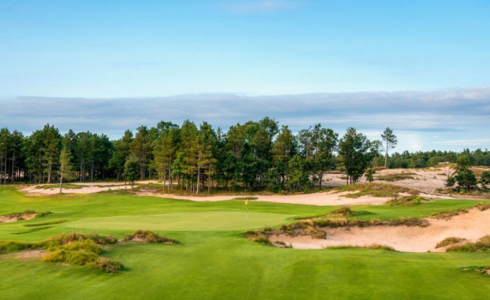 The 17-hole Sandbox course at Sand Valley Golf Resort in Nekoosa, Wisconsin
