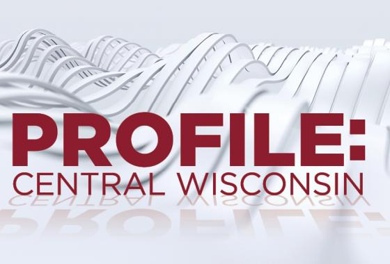 Profile: Central Wisconsin logo with Portage County Business Council and Mid-State logos